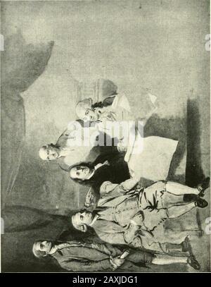 Brooklyn Museum Quarterly . l'artiste anglais Robert Edge Pine, et deux pastels de James Sharpies. Aucun portrait de Wash-ington de Trumbull n'était disponible, mais un exemple peut-être vu dans la salle des gouverneurs de l'Hôtel de ville, NewYork City. Les portraits de Stuart sont si familiers que nous ravetons pour l'illustration celle de Charles Willson Peale(1741-1827) qui est probablement peu connu de l'ensemble de la presse. Il représente Washington comme commandant au Chiefof de l'Armée continentale. Trumbull dit Peale indosWashington quatorze fois de la vie. Il, comme beaucoup d'autres artistes, a dérivé une partie considérable de hi Banque D'Images