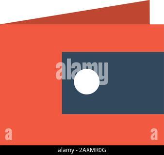 portefeuille rouge pour l'argent et les cartes sur fond blanc illustration vectorielle Banque D'Images