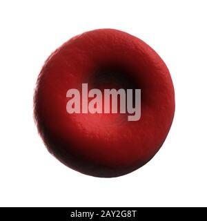 Rendu 3d illustration d'un globule rouge humain