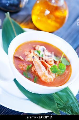 soupe asiatique fraîche Banque D'Images