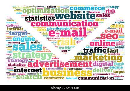 E-mail mot concept cloud Banque D'Images