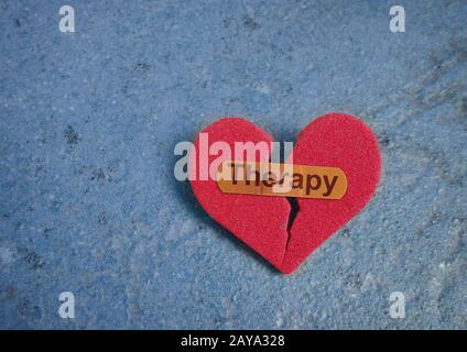 Bandage de thérapie sur le coeur Banque D'Images
