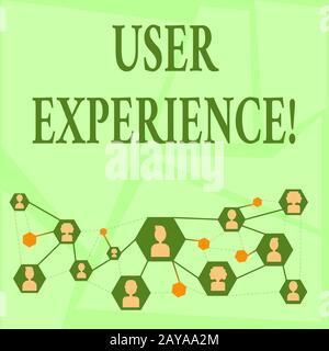Note d'écriture montrant l'expérience utilisateur. Photo d'entreprise présentant des émotions et des attitudes à l'égard de l'utilisation du système de produits Banque D'Images