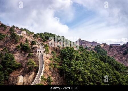 Grand mur de Chine, section de Mutianyu près de Pékin Banque D'Images