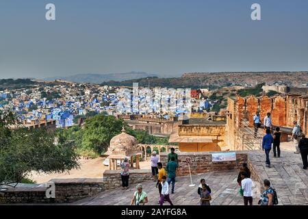 Vue aérienne de la ville bleue Jodhpur, Rajasthan, India