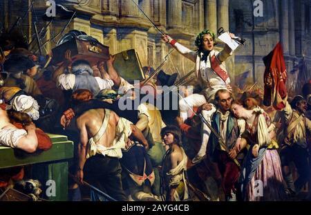 La prise de la Bastille, révolution française Peinture de Henry Singleton (1766-1839 Photo Stock ...
