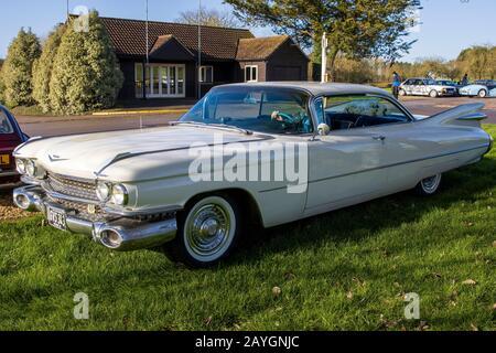 Cadillac Coupe Deville, 1959, Reg No: Gvs 343, Au Great Western Classic Car Show, Shepton Mallet Uk, Febuary 08, 2020 Banque D'Images