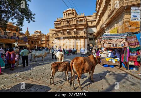 Raja Ka Mahal rois palais de Jaisalmer, Rajasthan, Inde