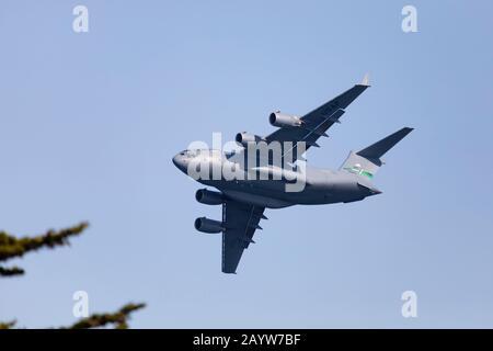 Avions de transport United States Air Force, USAF, Boeing C17 Globemaster, 60003, de la base aérienne de McChord, qui s'affiche à la San Francisco Fleet week 2019. C