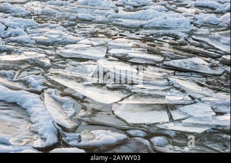 Préparez la glace, le gel du lac Banque D'Images