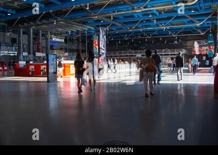 Centre Pompidou, Paris Banque D'Images