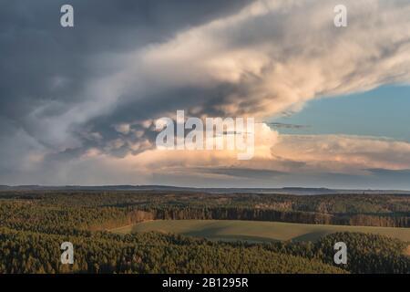 Leuchtenburg,Thunderstorm,Mammatus clouds,Sunset,Thuringe,Allemagne