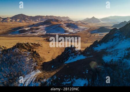 La Suisse, mongole, Parc National de Gorkhi-Terelj en Mongolie