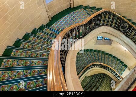 L'intérieur de la Cour suprême du Middlesex Guildhall, dans le centre de Londres Banque D'Images