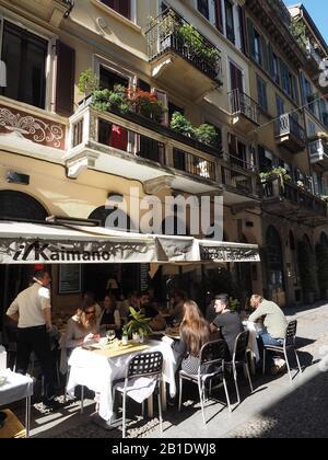Europe, Italie, Lombardie , Milan, restaurant dans le quartier de Brera Banque D'Images