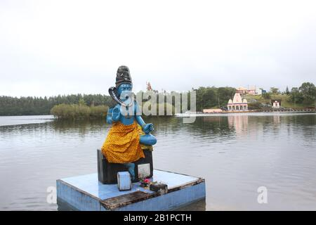 Ganga Talao, lac cratère , Grand bassin, Maurice Banque D'Images