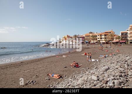 Playa Valle Gran Rey, La Gomera, Îles Canaries, Espagne Banque D'Images