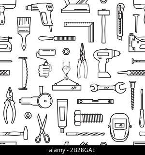 Un modèle transparent de divers outils pour la construction Banque D'Images