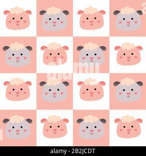 Joli motif sans coutures avec de jolis animaux pour les vêtements pour bébé Banque D'Images