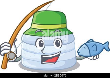 Une Photo du design macaron de bleuets de pêche heureux Banque D'Images
