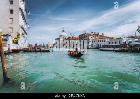 Grand Canal et basilique Santa Maria della Salute, Venise, Italie.
