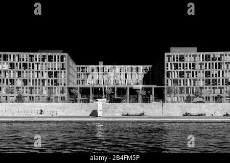 Vue sur la Spree à Berlin Banque D'Images