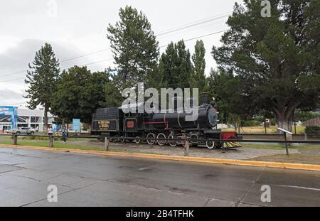 Ancienne locomotive express de patagonie la Trochita, dans la ville d'Esquel, en Argentine Banque D'Images