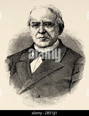 Portrait De Juan Martín Carramolino (Velayos 1805 - Madrid 1881). Politicien et juriste espagnol. Cour Suprême D'Espagne. Académie royale De Morale et de po Banque D'Images