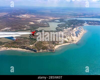 Vue aérienne de Carthagène Bocagrande