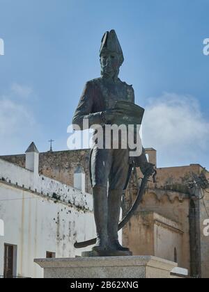 Monument du général Francisco de Copons y Navia. Tarifa, Cadix, Andalousie, Espagne.