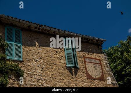 Bauduen, Lac De Sainte Croix - France - 27 Juin 2018 - Village Typiquement Provençal, Paysage Banque D'Images