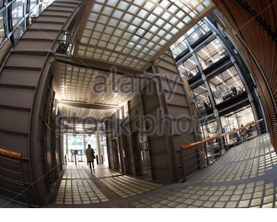 Intérieur des bureaux de Bracken House de Nikkei et Financial Times Newspaper Banque D'Images
