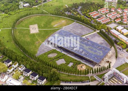 , collège Mont-Cenis à Herne, 14.05.2013, vue aérienne, Allemagne, Rhénanie-du-Nord-Westphalie, région de la Ruhr, Herne
