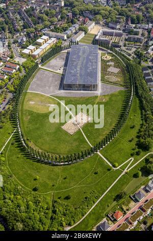 Collège Mont-Cenis à Herne, vue aérienne, 05.05.2014, Allemagne, Rhénanie-du-Nord-Westphalie, région de la Ruhr, Herne
