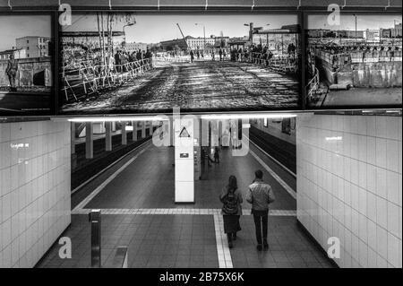 Allemagne, Berlin, 29.04.2017. Photographie à la gare Potsdamer Platz le 29.04.2017. [traduction automatique] Banque D'Images