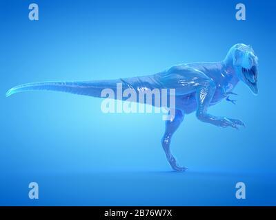 T-rex, illustration de l'ordinateur.