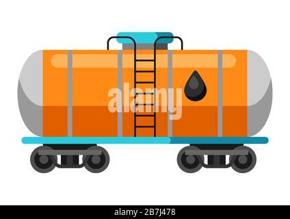 Illustration du réservoir de la rampe d'huile. Banque D'Images