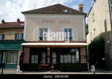 L'Auberge Ravoux, la maison où Vincent van Gogh a passé ses derniers mois et où il est mort. Auvers-sur-Oise. Ile-de-France. France Banque D'Images