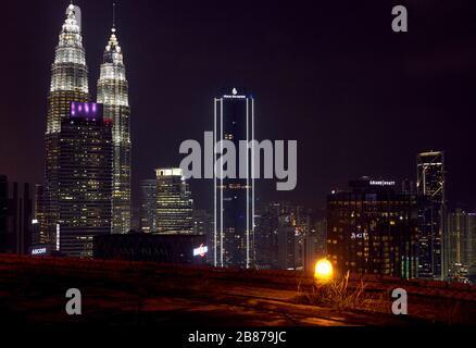 Vue depuis la terrasse d'Helipad à Kuala Lumpur Banque D'Images