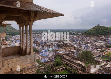 Ville de Bundi du palais, Rajasthan, Inde