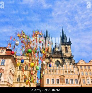 République tchèque, Prague, Église notre-Dame avant Týn. Le 28 mars 2016 Banque D'Images