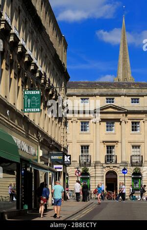 Quiet Street, City of Bath, Somerset, Angleterre, Royaume-Uni Banque D'Images