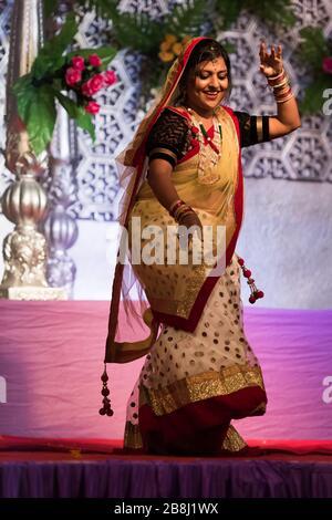 Mariage indien à Sawai Madhopur près du parc national de Ranthambore, au Rajasthan, en Inde Banque D'Images
