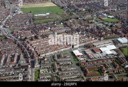 Vue aérienne du sud de Liverpool autour de Belmont Road Banque D'Images