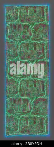 Tissus d'ameublement, 1827/40, conçu par Philippe Wyngaert (flamand, actif c. 1820) après la gravure de Jean-Pierre-Marie Jazet (français, 1788-1871 après Henry-Joseph Fradelle (français, 1788-?), France, peut-être Alsace ou Bolbec, France, coton, tissage Uni, papier en copperplate, 234 × 77,8 cm (92 1/8 × 30 5/8 in.), réimaginée par Gibon, design de rayons de lumière et de gaie. L'art classique réinventé avec une touche moderne. La photographie inspirée du futurisme, qui embrasse l'énergie dynamique de la technologie moderne, du mouvement, de la vitesse et révolutionne la culture.