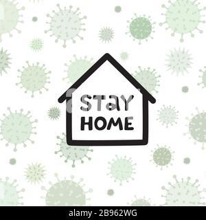 Virus Corona écrit dans la typographie conception d'affiche.sauver la planète du virus corona.rester sûr,rester à l'intérieur de la maison.prévention du virus. Banque D'Images