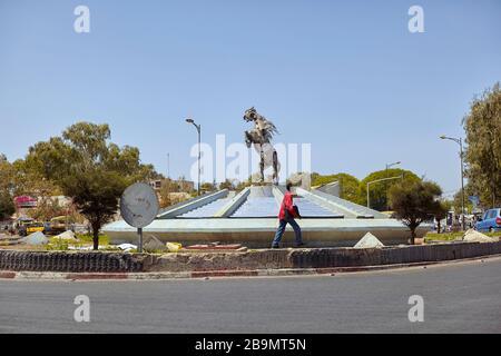 Monument Maalaw à Dakar, Sénégal, Afrique de l'Ouest Banque D'Images