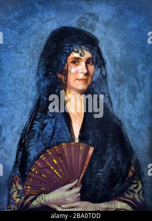 Portrait de Julieta par Ignacio Zuloaga Zabaleta 1870-1945 Espagne Espagnol Banque D'Images