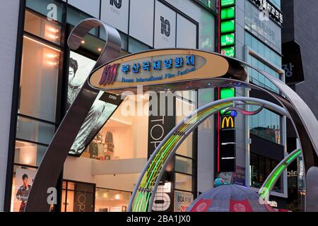 BIFF Square, District de Nampo, Busan, Corée du Sud, Asie Banque D'Images