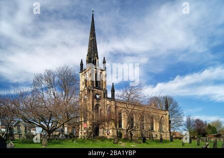 Royaume-Uni, Yorkshire du Sud, Elsecar, Église paroissiale de la Sainte Trinité
